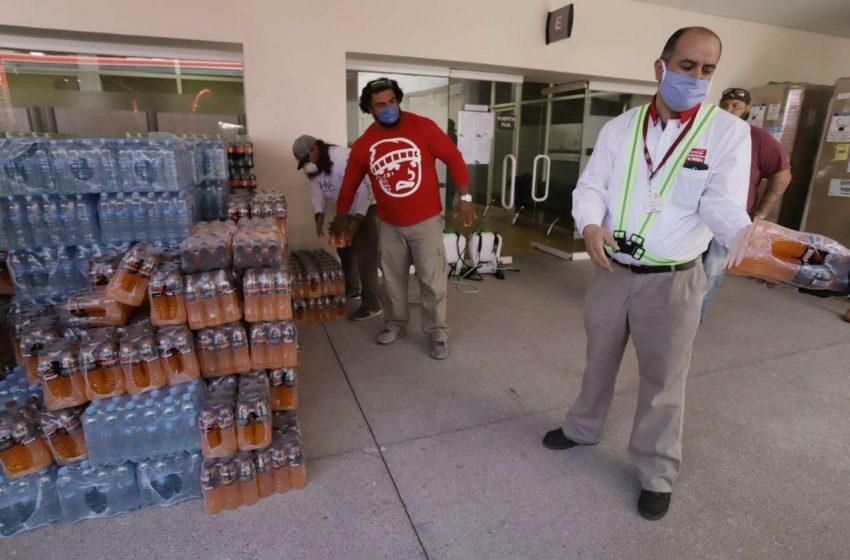 Más de 2 mil litros de agua dona Grupo FEMSA a municipio de Querétaro en apoyo ante contingencia