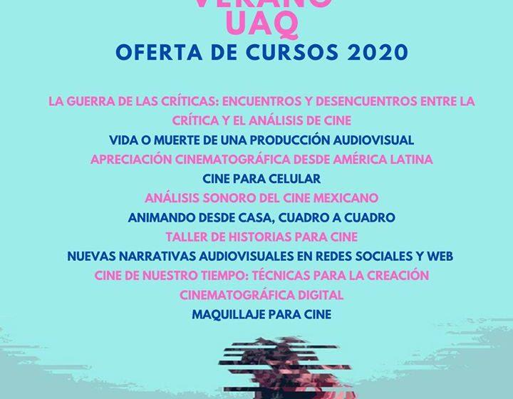Comienzan inscripciones a Escuela de Cine de Verano UAQ en modalidad virtual