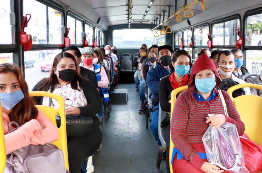 80% de usuarios de transporte público utilizan cubrebocas en Querétaro