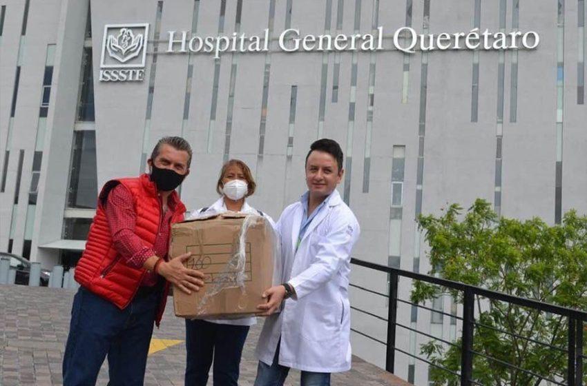 Entrega Hugo Cabrera equipo de protección para personal médico de Querétaro y San Juan del Río
