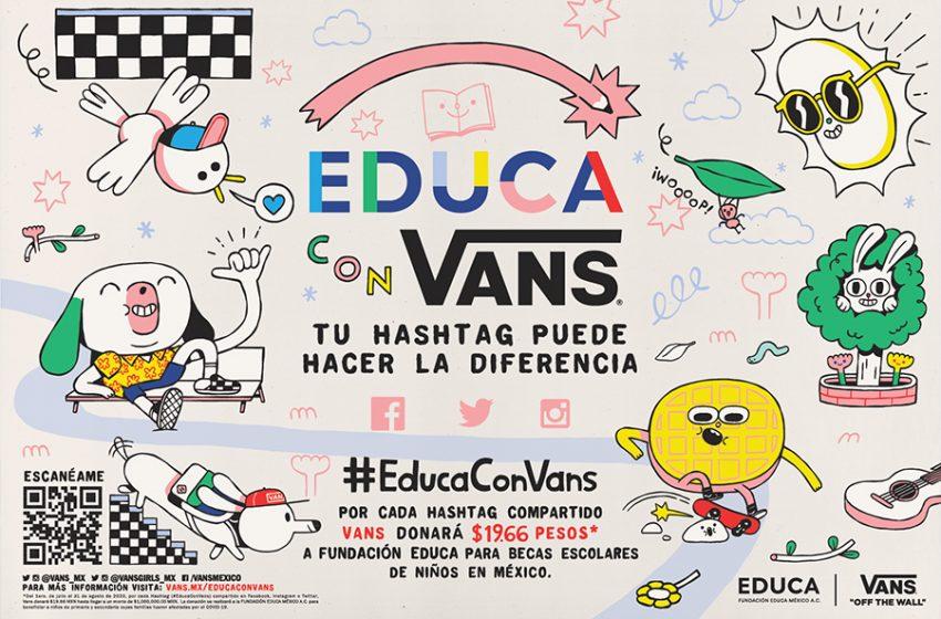 Vans se compromete con el apoyo de la educación en México