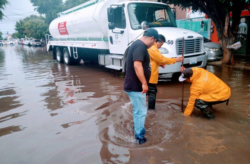 Ingreso de agua a viviendas y encharcamientos en alguna colonias de la capital, saldo de lluvias del sábado: PC