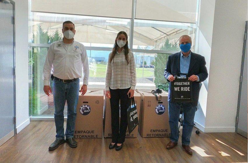 Municipio de Querétaro recibe 10 mil cubrebocas donados por la trasnacional BRP Adventure bye Design
