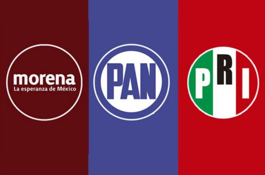 Los partidos, a los distritos federales por Querétaro