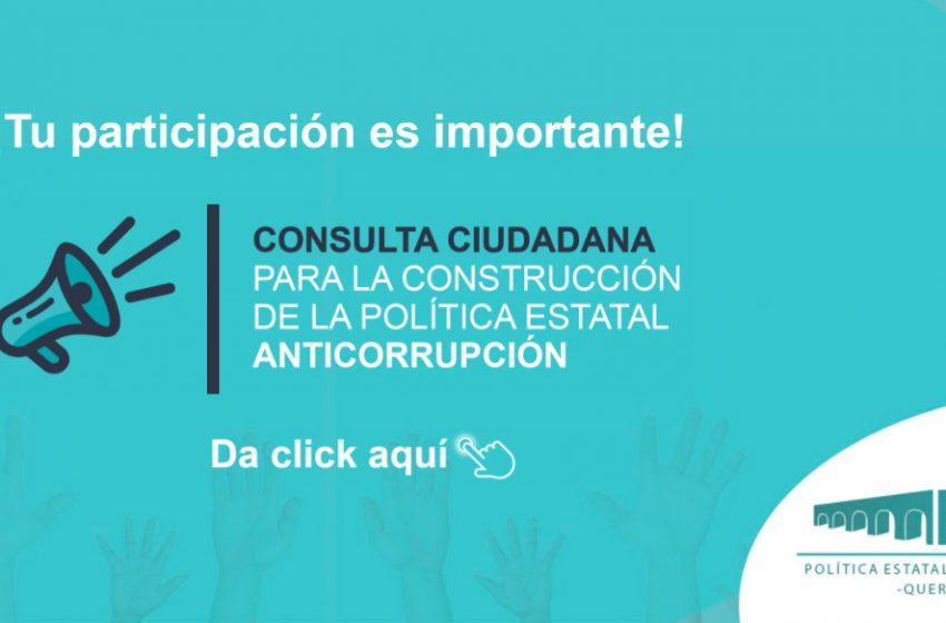 ¿Te interesa participar en la construcción de la Política Estatal Anticorrupción?
