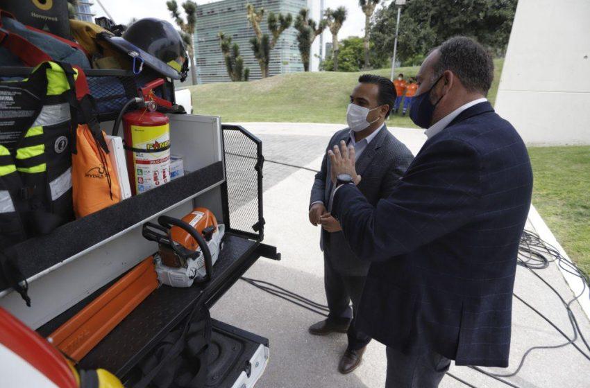 Recibe Protección Civil municipal de Querétaro cuatro nuevas unidades