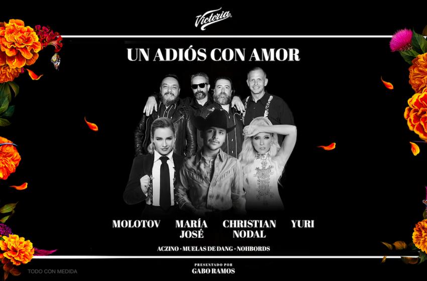 """María José, Yuri, Christian Nodal y Molotov cantarán en """"Un Adiós con Amor"""" de Victoria"""