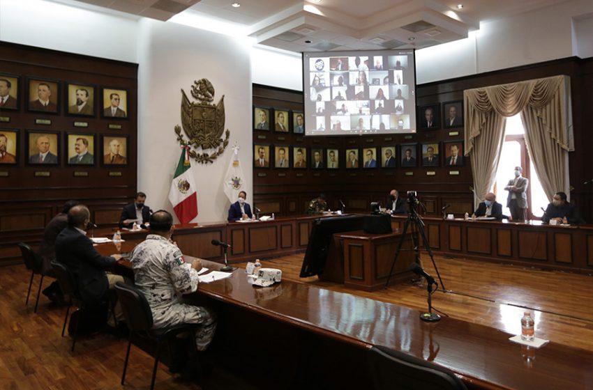Se reúne la Coordinación Estatal para la Construcción de la Paz