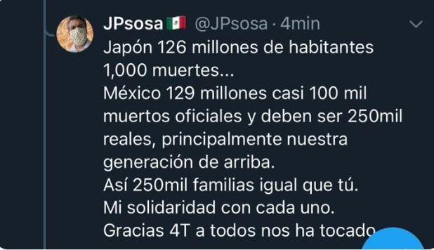 El tropezón de Juan Pablo Sosa