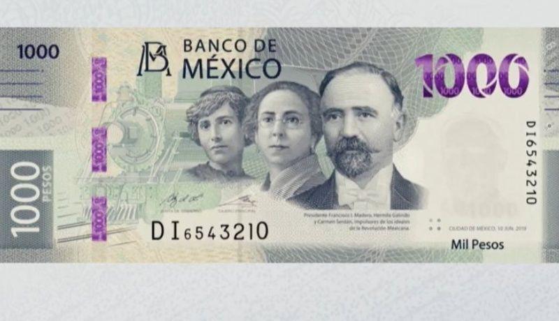 Nuevo billete de 1000 pesos: Francisco I. Madero, Hermila Galindo y Carmen Serdán sustituirán a Hidalgo