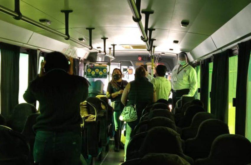 Dos conductores de transporte público sancionados por no usar cubrebocas