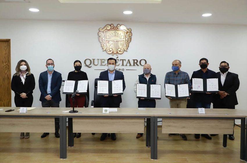 Municipio de Querétaro e INFOQRO firman convenio para Plan de Acción Municipal 2020-2021