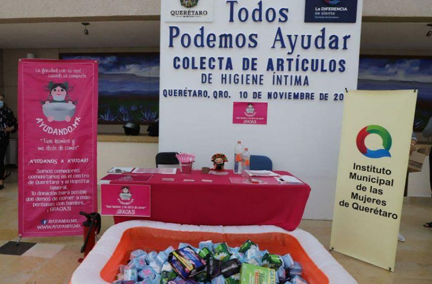 Organizan colecta de artículos de higiene femenina