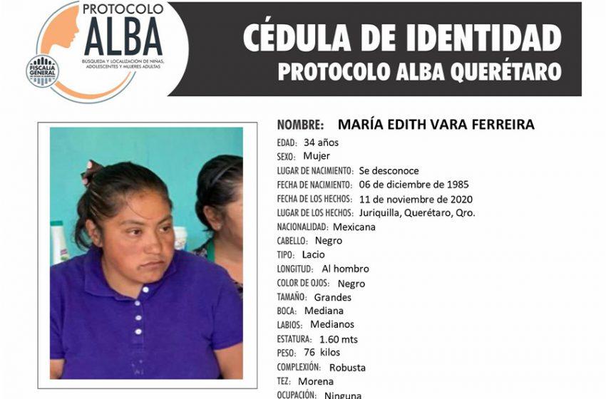 Activan protocolo Alba por la no localización de María Edith Vara Ferreira