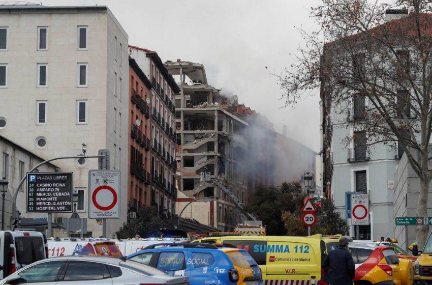 Explosión en edificio de Madrid deja al menos dos fallecidos