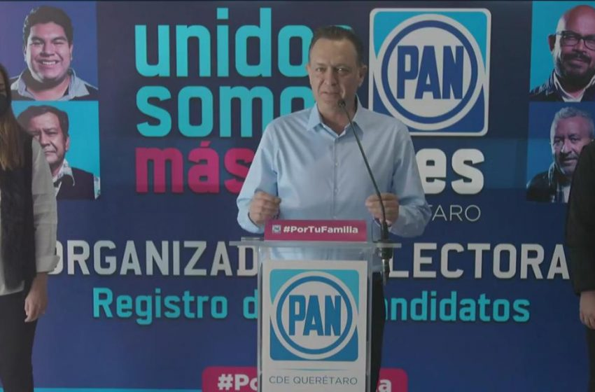 Mauricio Kuri se registra como precandidato a la gubernatura de Querétaro