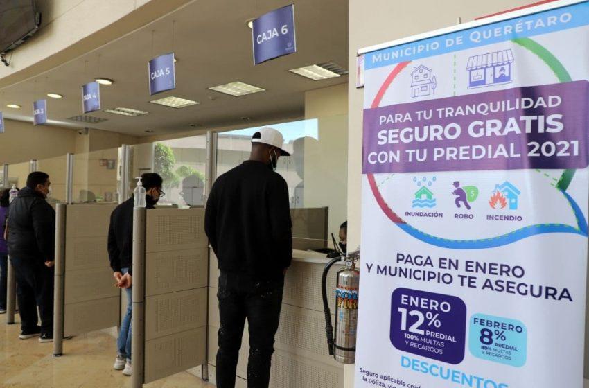 Municipio de Querétaro ofrece seguro gratuito de vivienda a quienes paguen predial en enero
