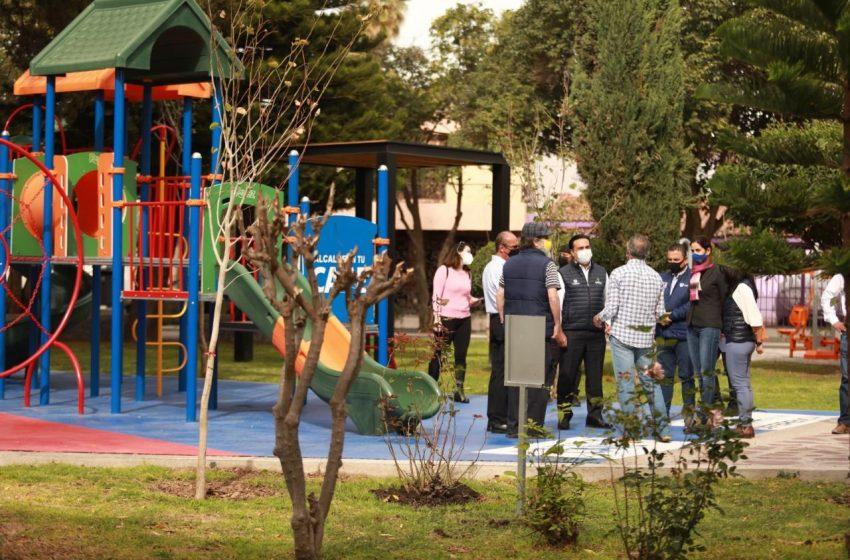 Van 25 parques rehabilitados en el Municipio de Querétaro