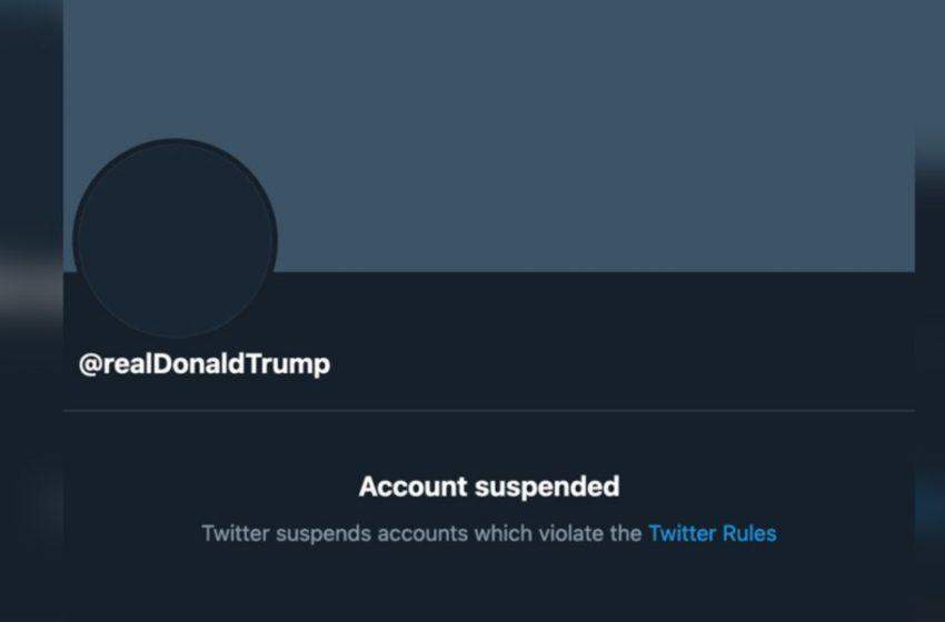 Twitter suspende de manera permanente la cuenta de Donald Trump