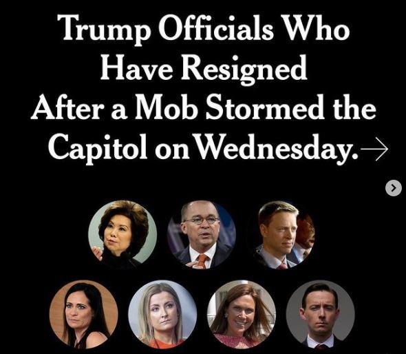 Conoce quiénes han dejado el gabinete de Donald Trump desde la toma del Capitolio