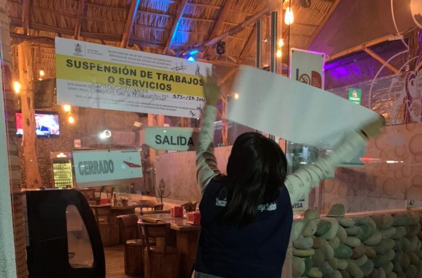 Suspenden dos bares en la zona metropolitana por incumplir medidas sanitarias