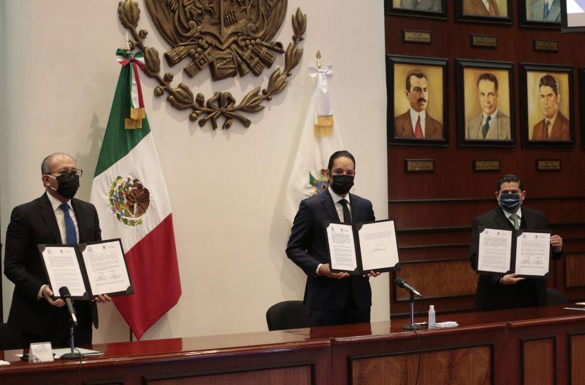 Gobierno de Querétaro y TSJ firman convenio, agilizarán impresión de actas de personas cuya vida esté en peligro