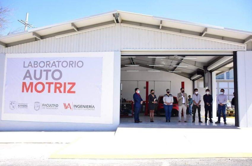 Inaugura UAQ laboratorio automotriz en campus SJR