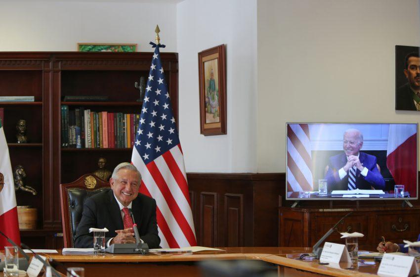AMLO y Biden fortalecerán cooperación en temas de migración y COVID-19