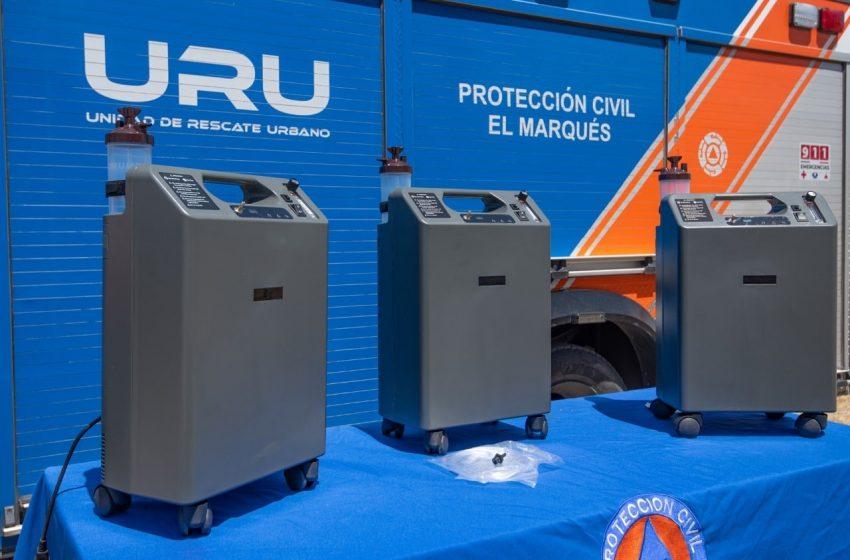 Municipio de El Marqués adquiere cien concentradores de oxígeno