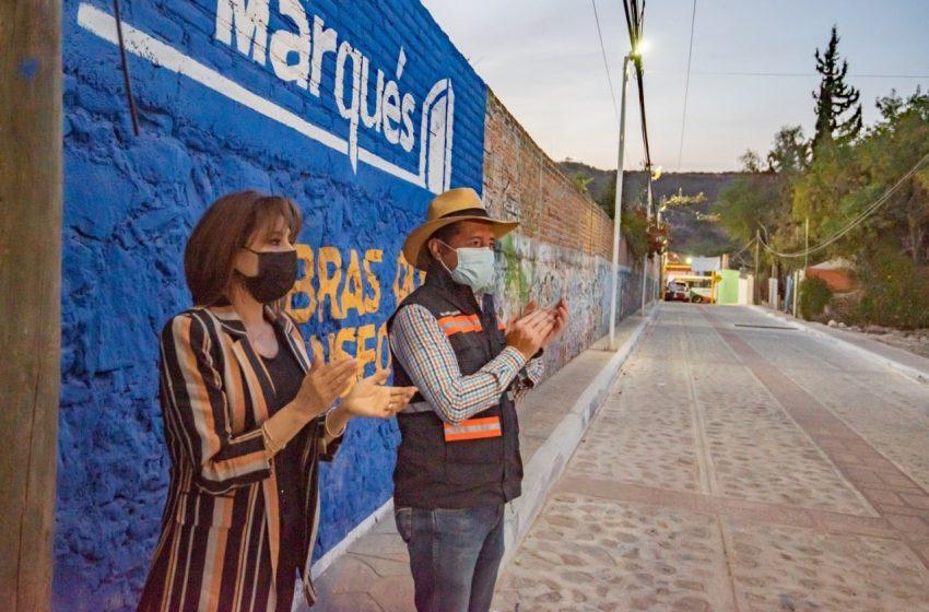 Presidenta municipal de El Marqués entrega obra de rehabilitación en La Cañada
