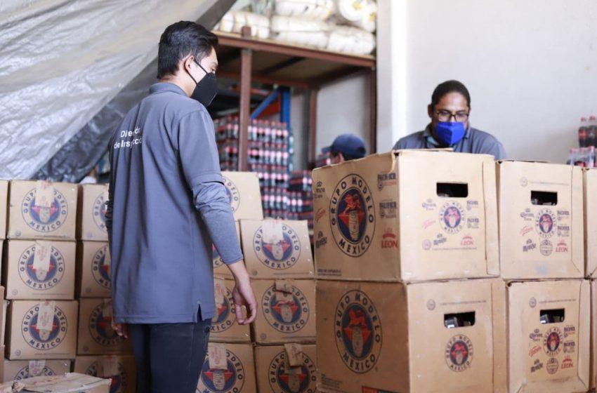 Aseguran en Santa Rosa Jáuregui 11 mil cervezas que se vendían ilegalmente
