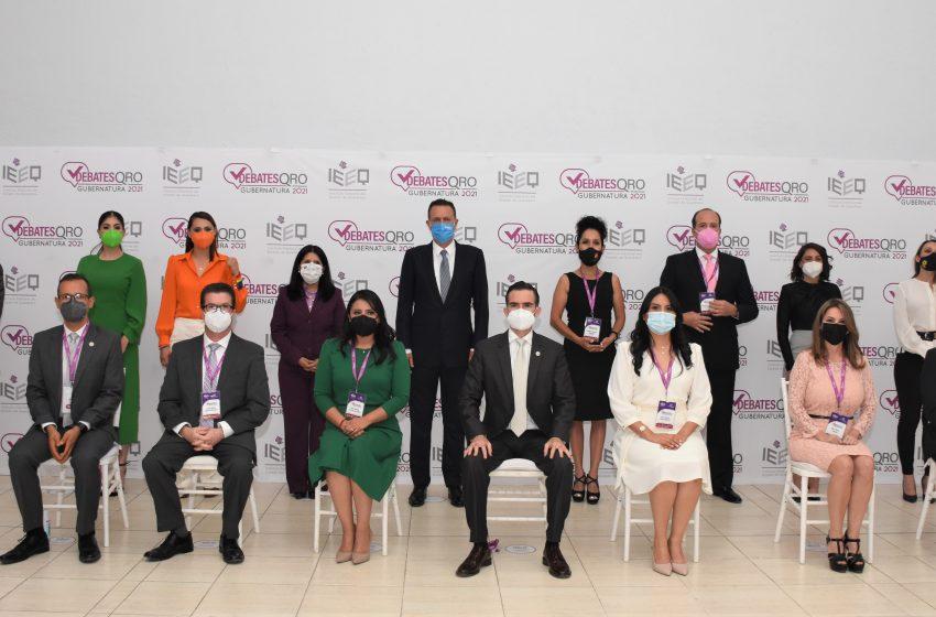 Realizan primer debate de los candidatos a la gubernatura de Querétaro