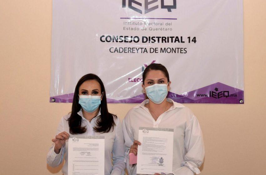 Daniela Salgado y Leticia Rubio se registran como candidatas a diputadas locales