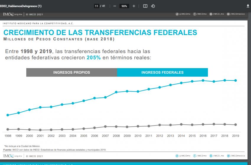 Necesario que estados trabajen en su autonomía fiscal: Imco