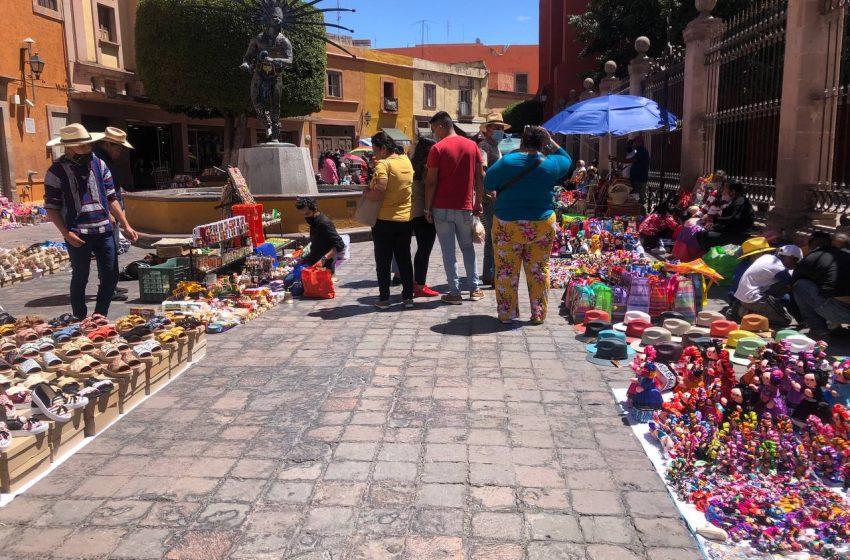 Ambulantaje empeora situación de comerciantes establecidos, advierte Canaco Querétaro