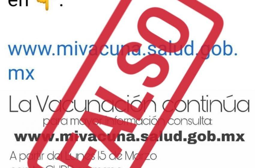 Advierte Bienestar Querétaro de página falsa de registro para vacuna contra COVID-19