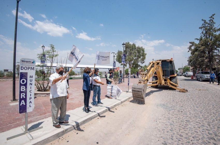 Arrancan obras de mejoramiento urbano en El Marqués