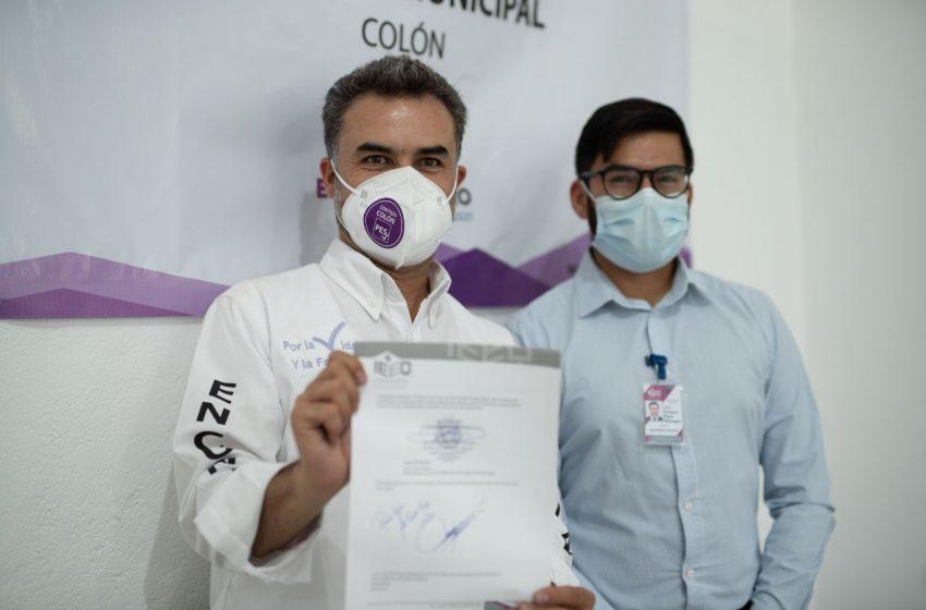 Queda registrado Luis Curiel como candidato del PES a presidencia municipal de Colón