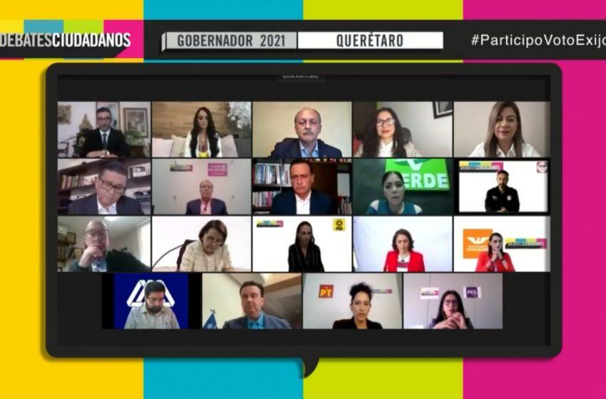 Realiza COPARMEX debate entre candidatos a la gubernatura; Nava abandona la transmisión