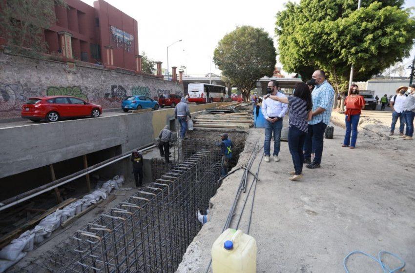 Trabajos en dren Cimatario tienen 87 por ciento de avance
