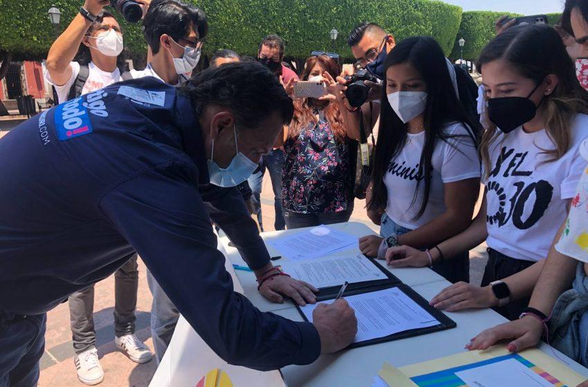 Firman candidatos a la gubernatura Agenda 2030