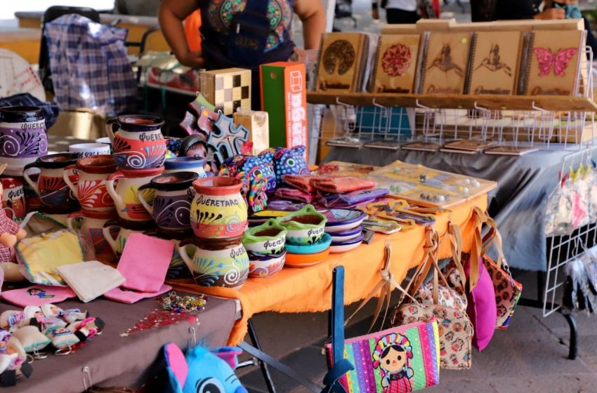 Alistan feria artesanal en Plaza del Parque