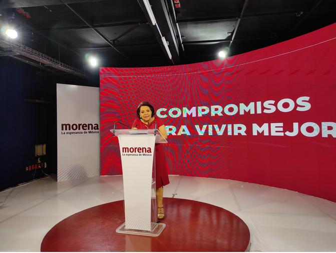 Propuestas de seguridad de Kuri convertirán a Querétaro en campo de batalla: Celia Maya