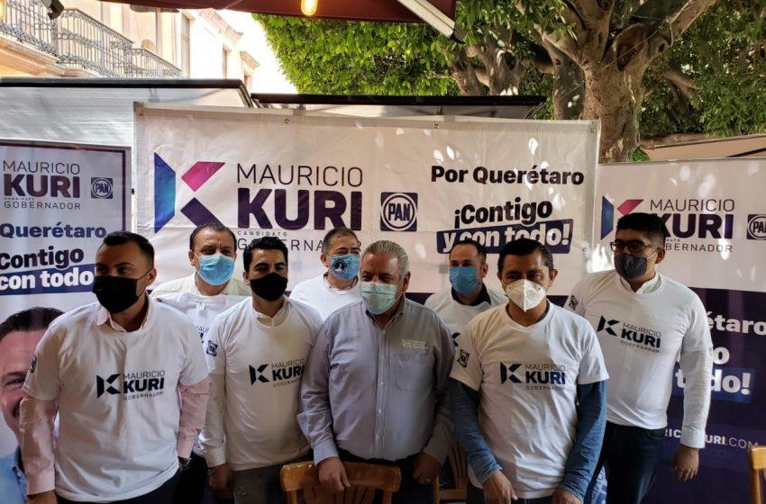 Priistas se suman a campaña de Mauricio Kuri