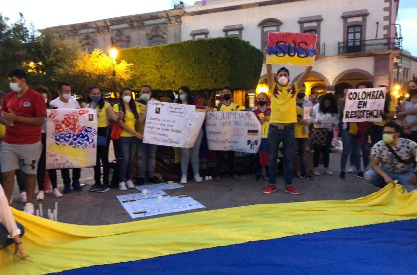 Colombianos en Querétaro se suman a protestas en su país