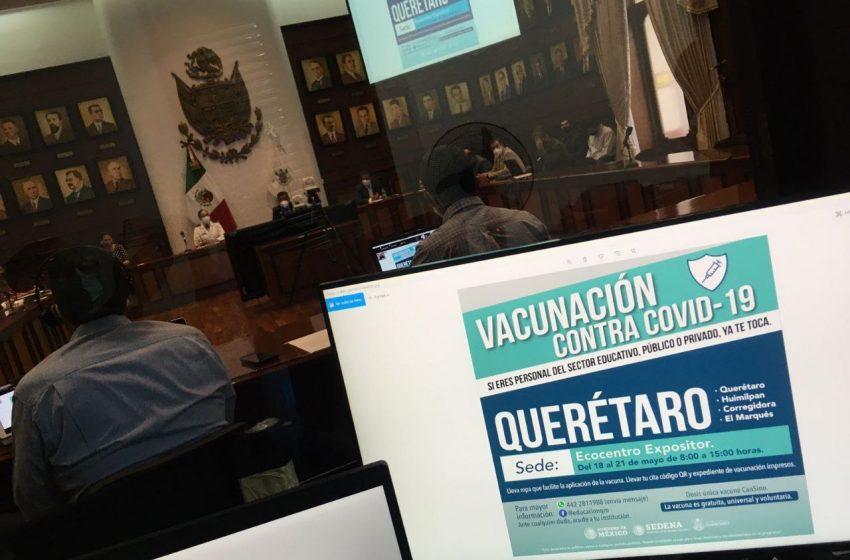 Registros para que docentes de Querétaro se vacunen se abrirán el 14 de mayo