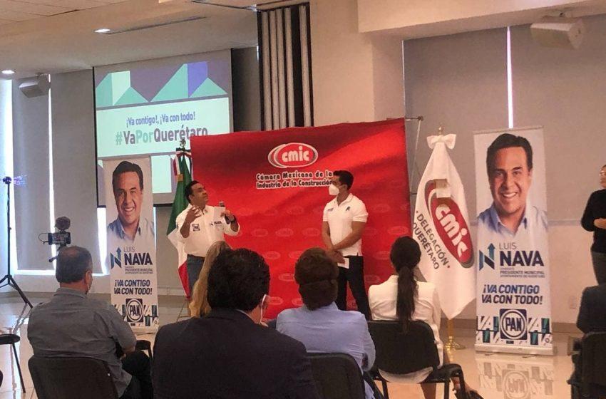 Plantea Luis Nava 7 grandes proyectos de infraestructura en su gobierno