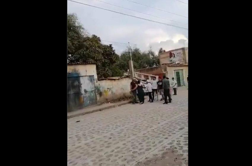 Pleito entre habitante de La Valla y simpatizante de Morena, presunta agresión a Celia Maya: delegado