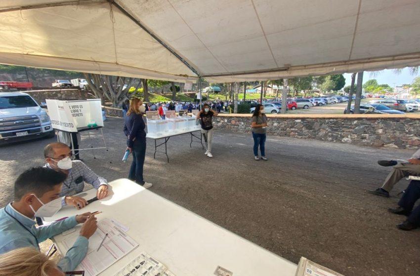 """""""Emocionante y sorprendente la participación ciudadana"""", testimonio de un funcionario de casilla en Juriquilla"""