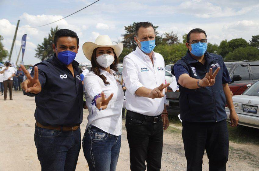 Afirma Kuri que, de ganar las elecciones, erradicará la brecha económico-social en Pedro Escobedo